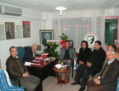 MUZAFFER KILIÇ - Mut Chp İlçe Yönetiminden Add' Ye Nezaket Ziyareti