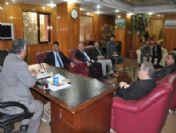 Eğitim Bir-sen Yönetimi, Belediye Başkanı Sadak'ı Ziyaret Etti