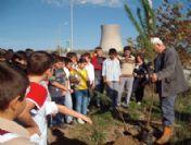 Çan Termik Santralı'na İzci Öğrencilerden Fidan