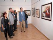 Ressam Hasan Kırdı'nın Sergisine İlgi