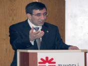 Devlet Bakanı Cevdet Yılmaz Tunceli'de