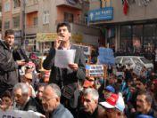 Mersin'de Tekel İşçilerine Destek Eylemi