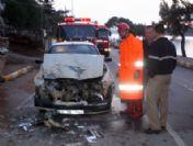 Kaza Yapan Lpg'li Otomobil Paniğe Yol Açtı