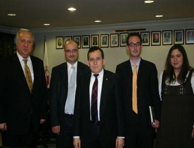 ZORLU GRUBU - Avrupa Bankası Heyeti'nden Ttso Başkanı Hacısalihoğlu'na Ziyaret