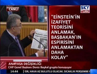 İZAFIYET TEORISI - Başbakan'a gazete küpürü ile cevap