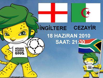 GARETH BARRY - 2010 Dünya Kupası C grubu İngiltere - Cezayir maçı TRT 1 (TRT1) canlı izle