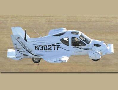 Uçan otomobil üretildi
