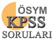 KPSS 2010 Lisans sınav soruları ve cevap anahtarı -ÖSYM-