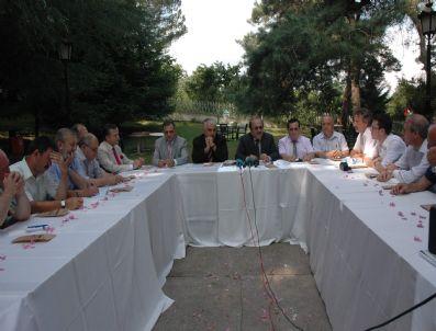 İBRAHIM SAĞıROĞLU - Başkan Gümrükçüoğlu Özel Avrasya Mütevelli Heyeti İle Basın Toplantısı Düzenledi
