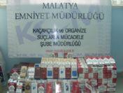 Malatya'da Kaçak Sigara Ele Geçirildi