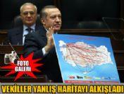 Başbakan Erdoğan'dan yolsuzluk iddialarına haritalı yanıt
