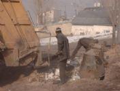 Erzurum'da Aşırı Soğuklar Nedeniyle Donan Çöpler, Belediye İşçilerine Zor Anlar Yaşattı