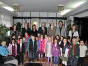 Minik Öğrenciler'den Başkan Okay'a Teşekkür Ziyareti