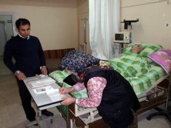 ABDULLAH KARAKUŞ - Osmancık Ptt'den Yatakta Maaş Hizmeti
