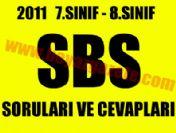 8.sınıf SBS soruları indir (2011 SBS sınav soruları)