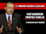 Ulaştırma Bakanı Binali Yıldırım yeni kabine listesi 2011