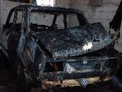Yanan Aracı Söndürürken Yaralandılar