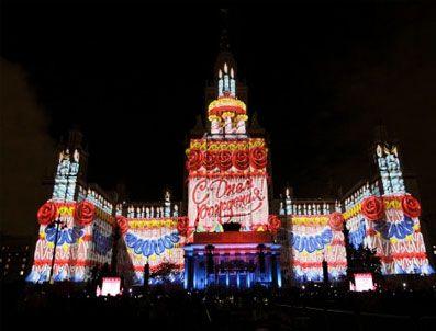 ALAIN ROBERT - Moskova'nın kıuruluşunun 864. yıldönümü gösterilerle kutlandı