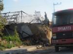Ortaköy'da Ahır ve Samanlık Yangını