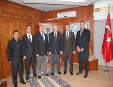 AK Parti Merkez İlçe Başkanı Eser'de İGM Başkanı Sel'e Ziyaret