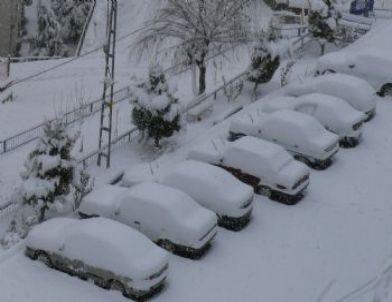 Bilecik'te Kar Yağışı Hayatı Olumsuz Yönde Etkiledi