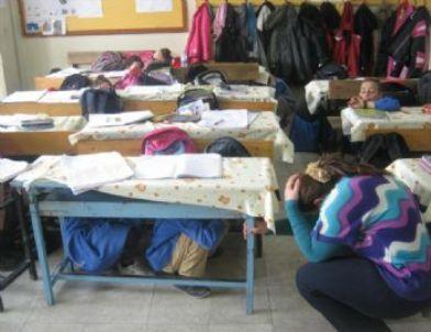 Samandağ' Da Yangın ve Deprem Tatbikatı