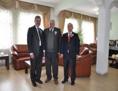 Vergi Dairesi Başkanı Poyraz'dan Erzurum Ticaret Borsası Başkanı Hınıslıoğlu'na  Ziyaret