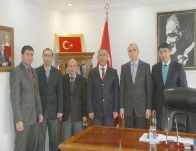 Vergi Dairesi Müdürü Güccan'dan Kaymakam Hersanlıoğlu'na Ziyaret
