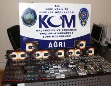 Ağrı'da 167 Adet Kaçak Cep Telefonu Ele Geçirildi