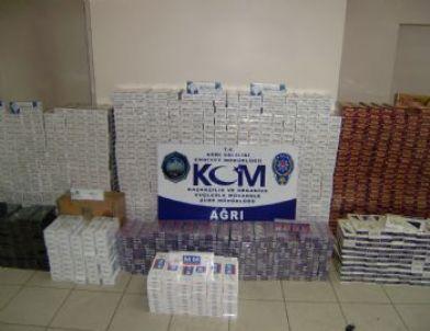 Ağrı'da 24 Bin 184 Karton Kaçak Sigara Ele Geçirildi