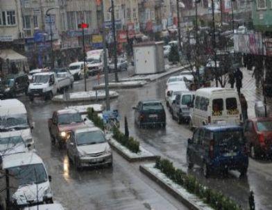 Bafra'da Kar Yağışı