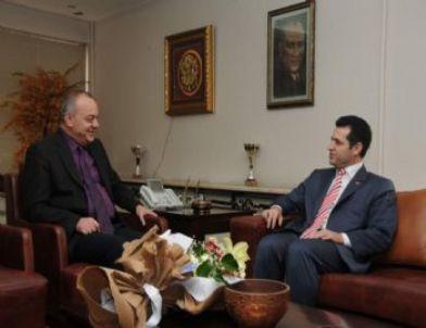 Başkan Ergün Bik Müdürü Tokgöz'ü Ağırladı