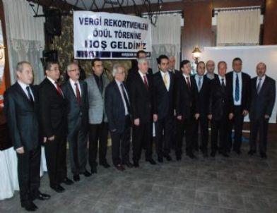 Kırşehir Vergi Rekortmenleri Ödüllerini Aldı