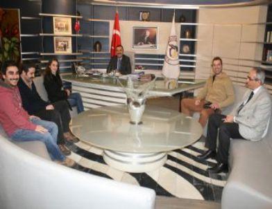 Kurtlar Vadisi Oyuncusu Çiğdem Batur'dan Başkan Bayram'a Ziyaret