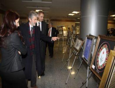 Sincan Belediyesi ve Halk Eğitim Merkezi Müdürlüğü İşbirliğiyle Ebru Sergisi