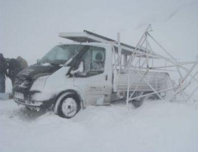 Yozgat'ta Yoğun Kar Yağışı Kazaya Yol Açtı