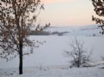 Çankırı Alpsarı Göleti Soğuktan Dondu