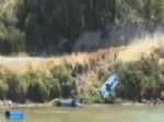 TAZMANYA - Yarış Arabası Nehre Uçtu