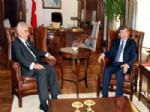 TARIK EL HAŞİMİ - Bakan Davutoğlu, İrak Cumhurbaşkanı Yardımcısı Haşimi İle Bir Araya Geldi