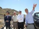 Vali Özcan'dan Koyunbaba Barajı'nda İnceleme