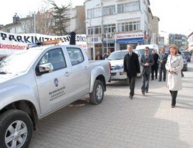 Bolvadin'de Yeni Alınan 7 Araç Hizmete Girdi
