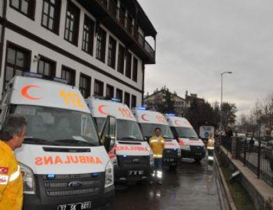 İl Sağlık Müdürlüğüne 5 Yeni Ambulans Geldi