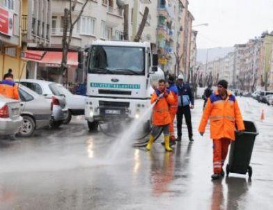 Malatya'da Cadde ve Sokaklar Temizleniyor