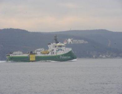 Sismik Araştırma Gemisi Polarcus Samur Çanakkale Boğazı'ndan Geçti