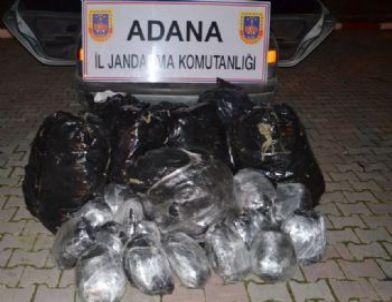 Adana'da 96 Kilogram Esrar ve 600 Kilogram Kaçak Tütün Ele Geçirildi