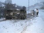 Yozgat'ta Kar, Kazaları Da Beraberinde Getirdi