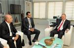 LEVENT YÜKSEL - Vedat Erdem'den Başkan Ergün'e Ziyaret