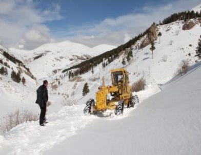 Erzurum'da Kar ve Tipi Nedeniyle Kapanan Köy Yolları Açılıyor