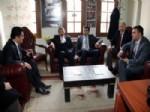 CENGİZ YAVİLİOĞLU - Bakan Yardımcısı Yusuf Teken, İl Başkanı Burhanettin Kuru'yu Ziyaret Etti