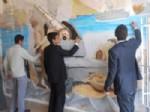 Öğrenciler Okul Duvarına Seyit Onbaşı'yı Çizdi